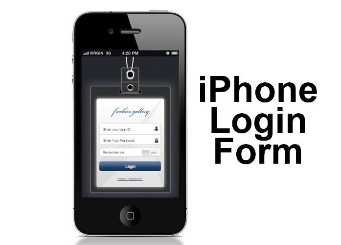iPhone Login Form