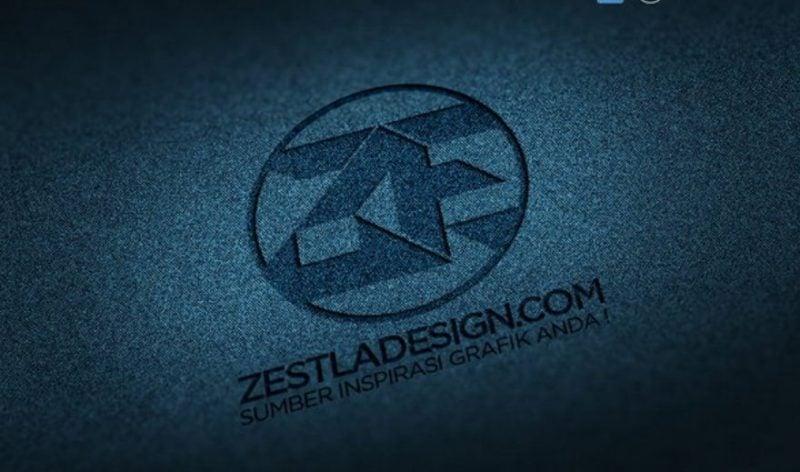 Logo Mockups Denim Texture