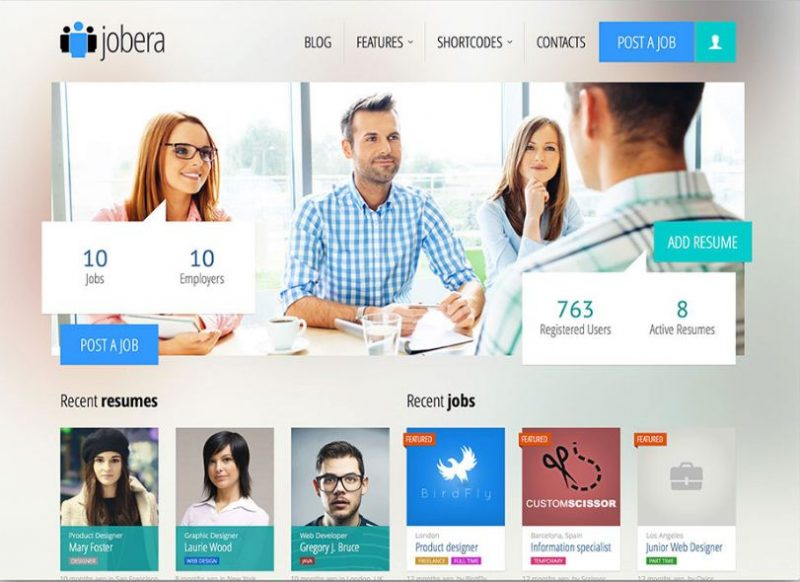 JobEra WordPress Theme