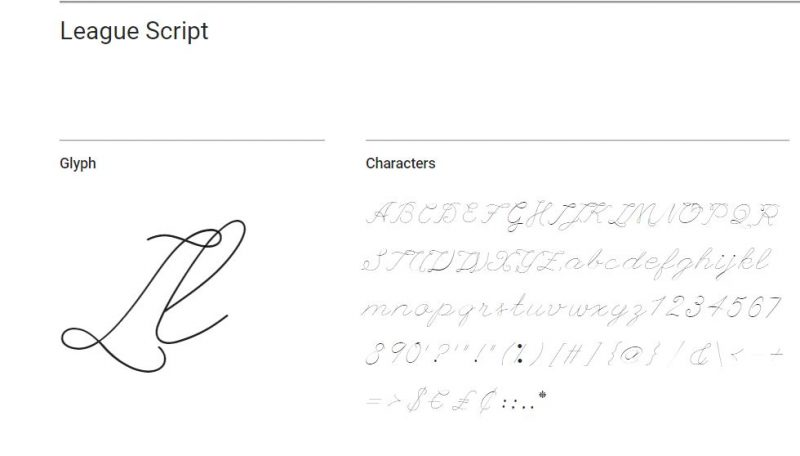 League Script Font