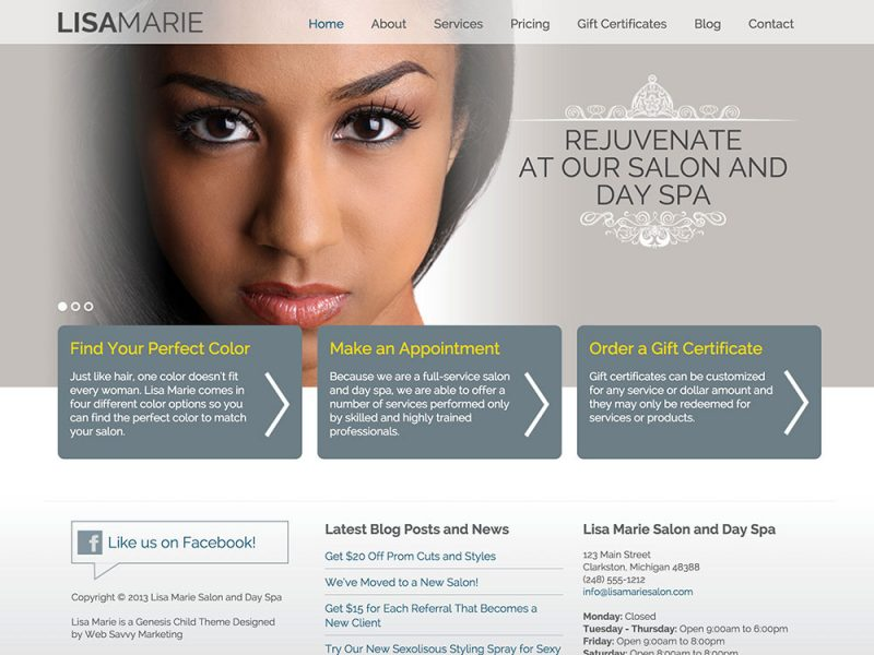 Lisa Marie Salon Theme
