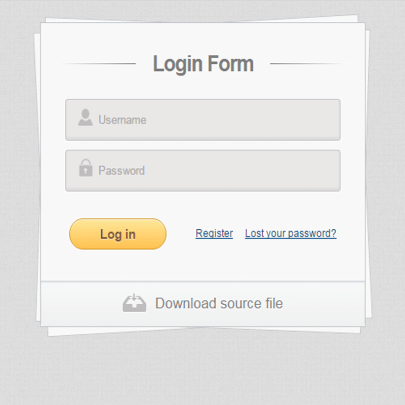 Login Form Using CSS3 and HTML5