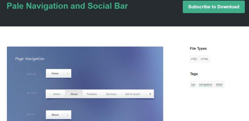 Pale Navigation and Social Bar