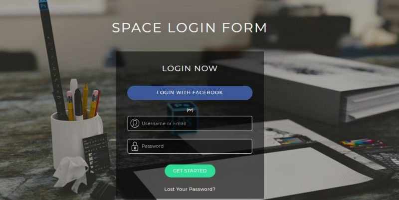 Space Login Form