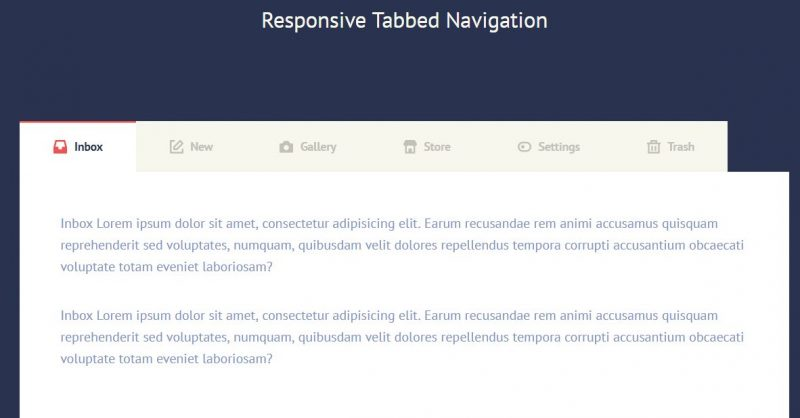 Responsive Tabbed Navigation Menu