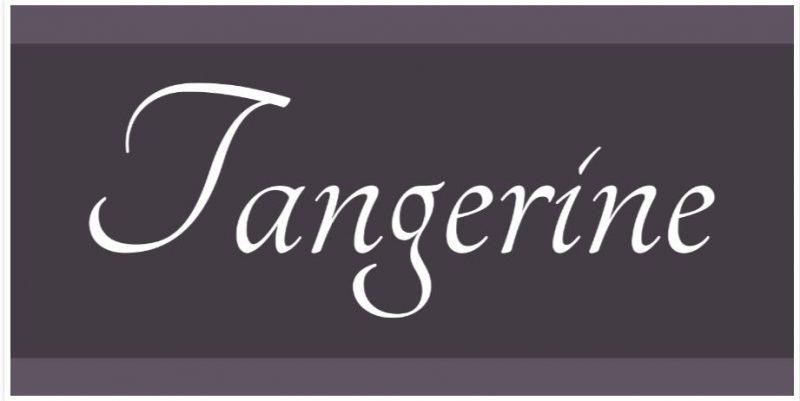 Tangerine Script Font