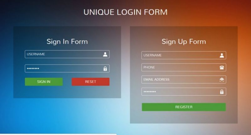 Unique Style Login