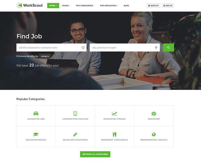 workscout-minimal-job-board-wordpress-template
