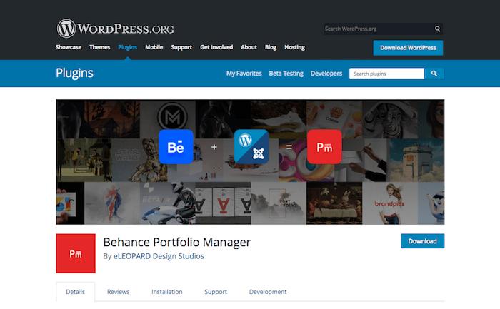 Behance Portfolio Manager