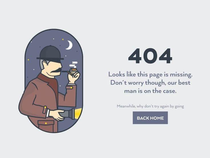 Attractive 404 Error Page