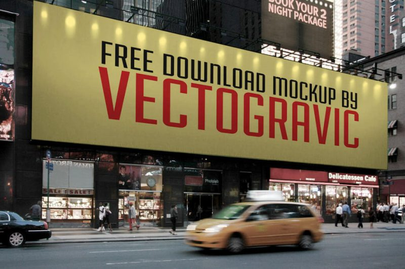 City Building Billboard Free Mock-up