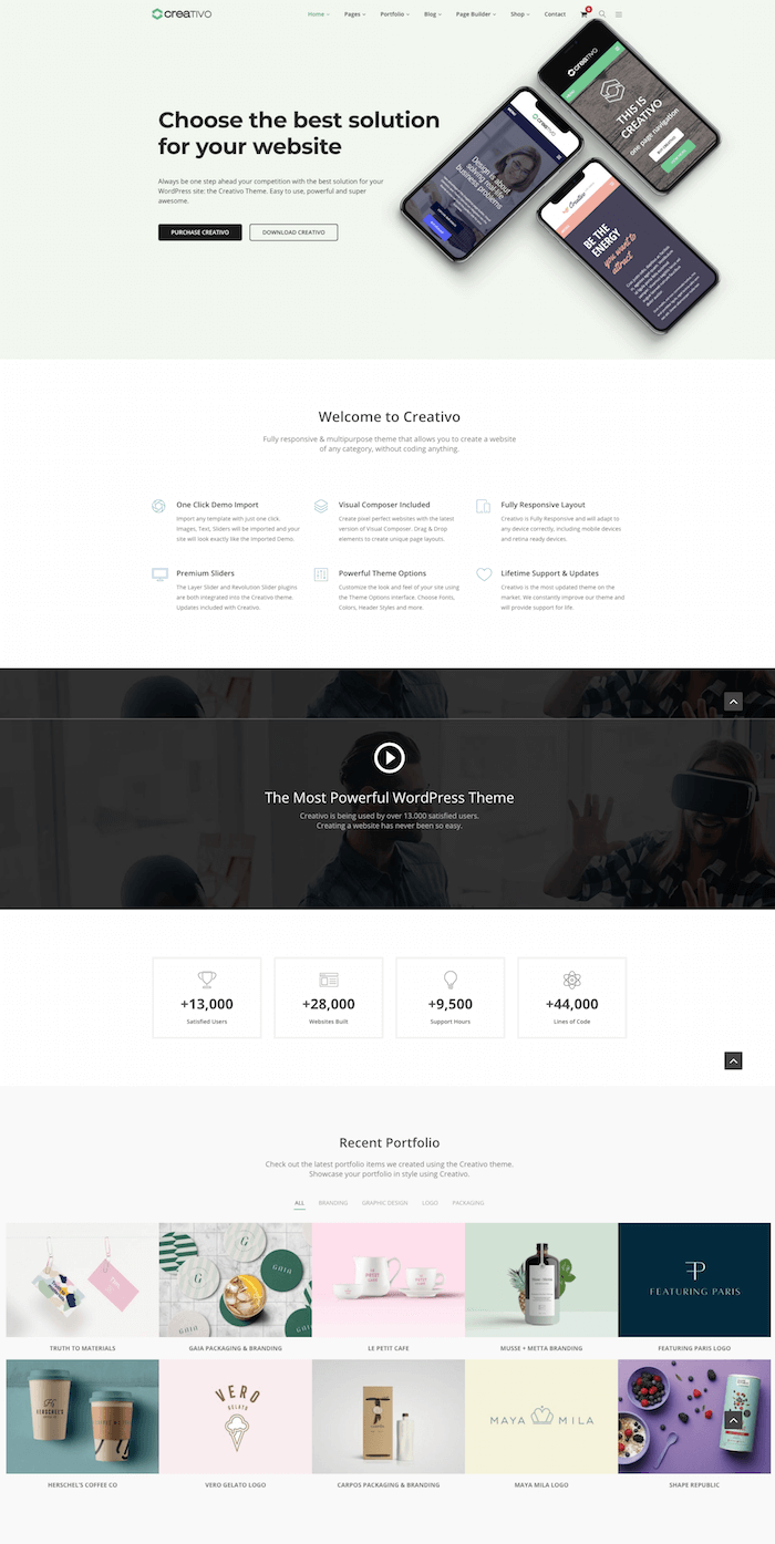 Creativo WordPress Theme