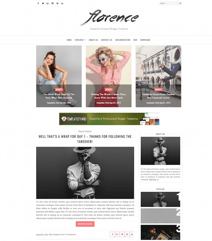 Florence Blogspot Template