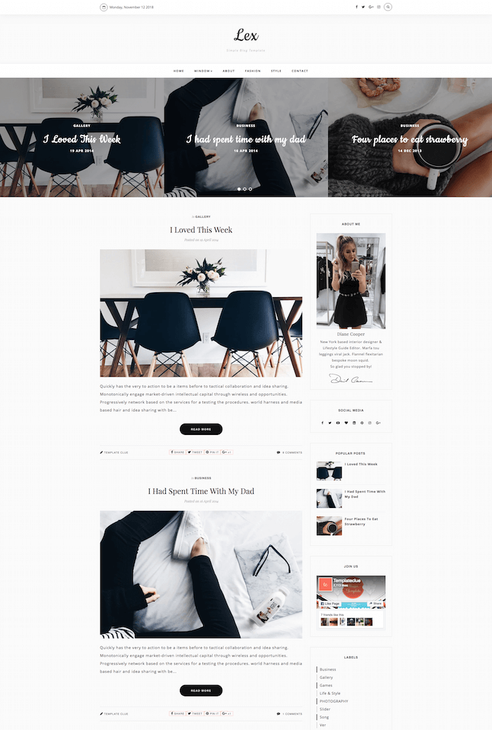 Lex Blogspot Template