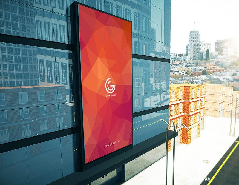 Promotional Building Billboard Mockup