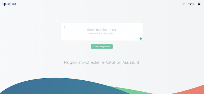 Quetext Plagiarism Checking Tool