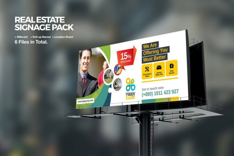 Real Estate Billboard Mockup