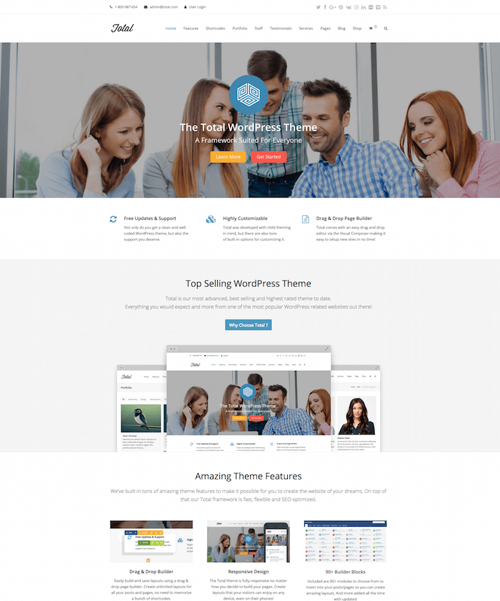 Total Multipurpose WordPress Theme