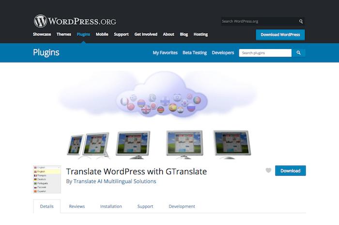 WordPress Language translation plugins