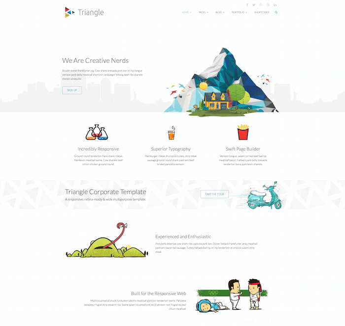 Triangle HTML5 Template