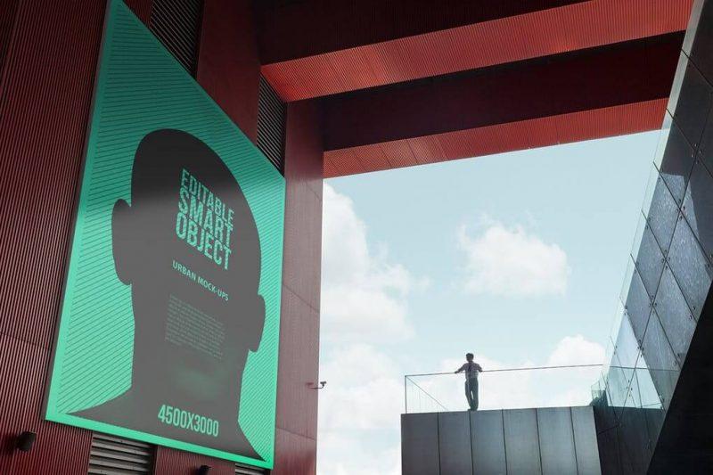 Urban Building Billboard Mockup
