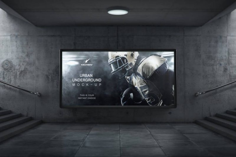Urban Underground Billboard Mockup