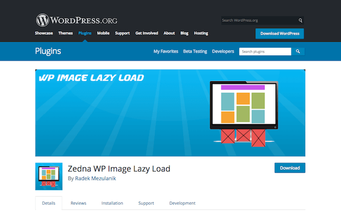 Zedna WP Image Lazy Load