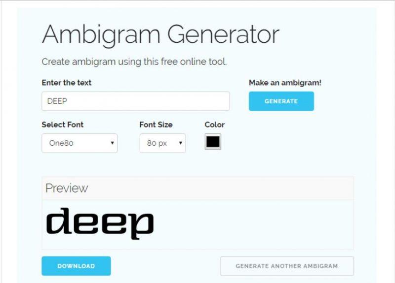 Online Ambigram Generator