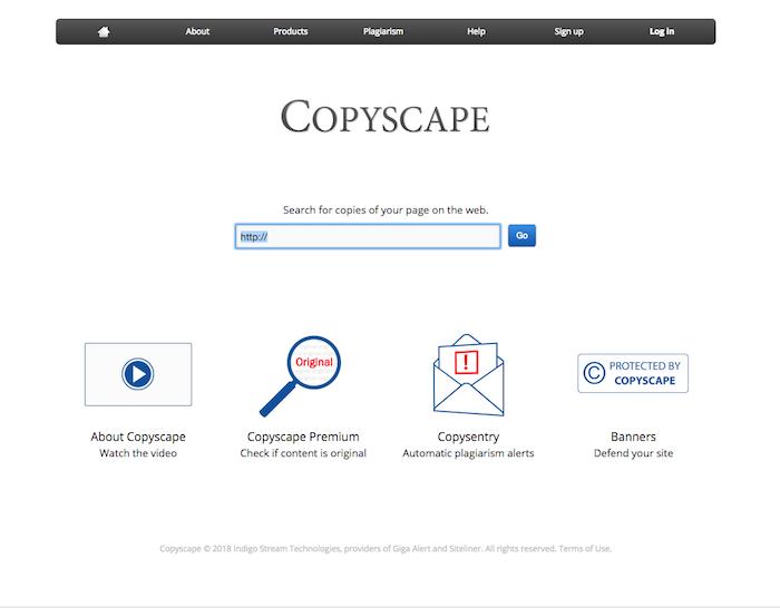 copyscape plagiarism tool