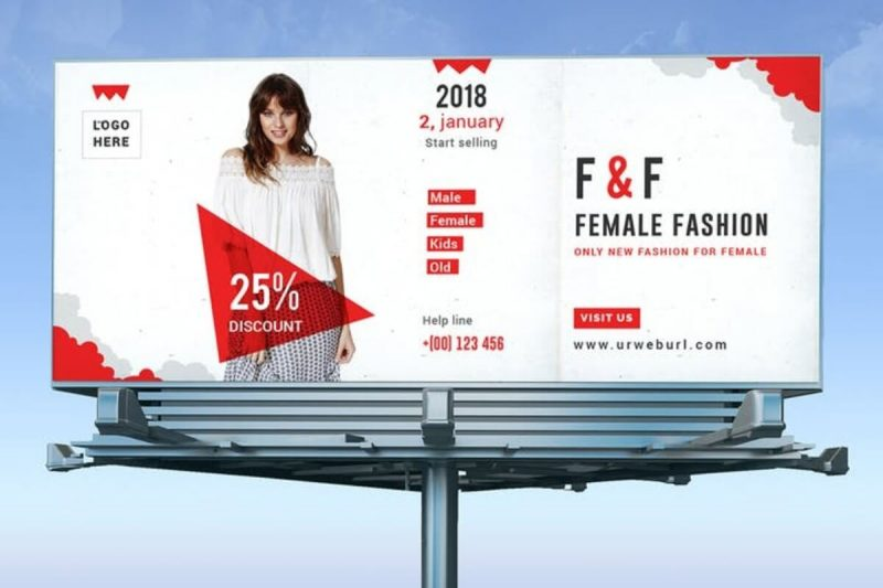 Fashion Billboard Mockup