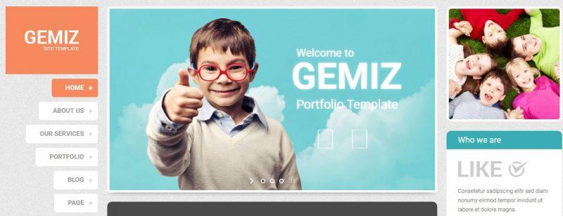 Gemiz Portfolio HTML Template