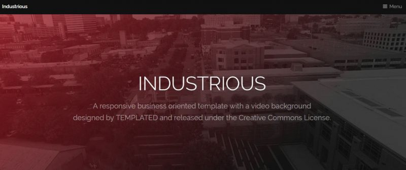 Industrious HTML5 Template