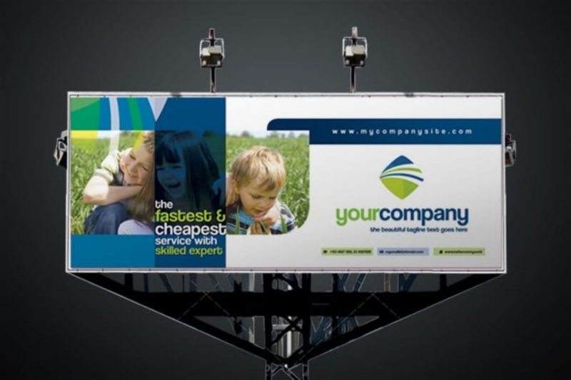 Minimal And Creative Corporate Billboard