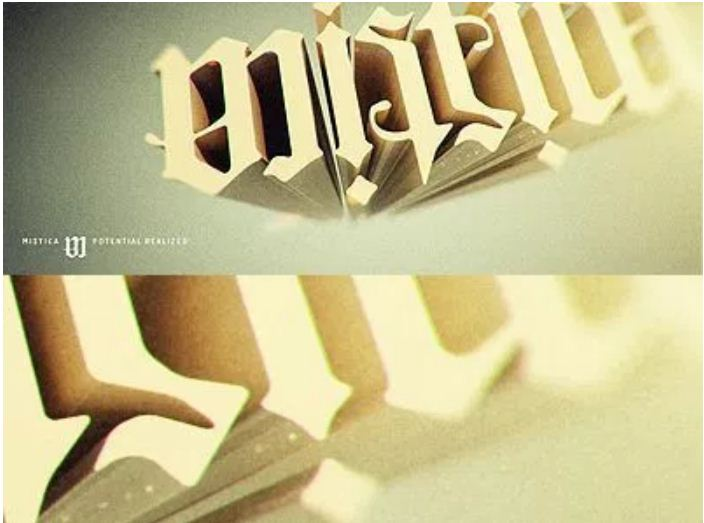 Mistica Logotype 3d
