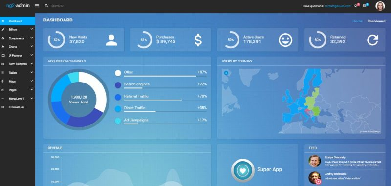 Attractive Admin Dashboard Template