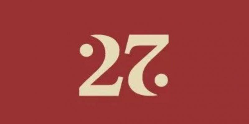Number 27 Ambigram