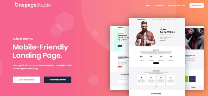 One Page Studio Template