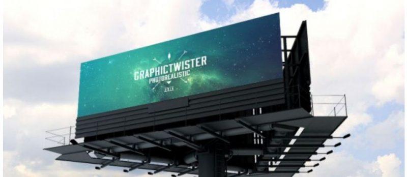 Realistic Billboard mockup