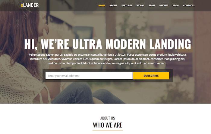 xLander Landing Page