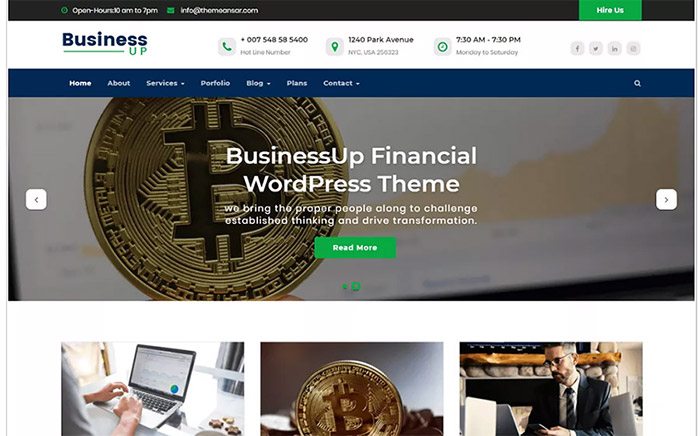 Businessup WordPress Theme
