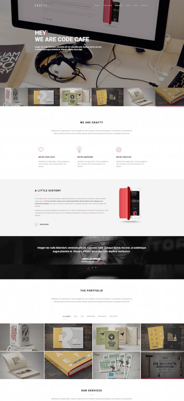 Crafty Digital Agency Template