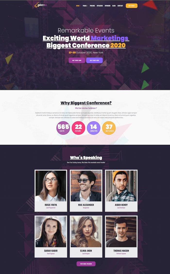Eplano Event WordPress Theme