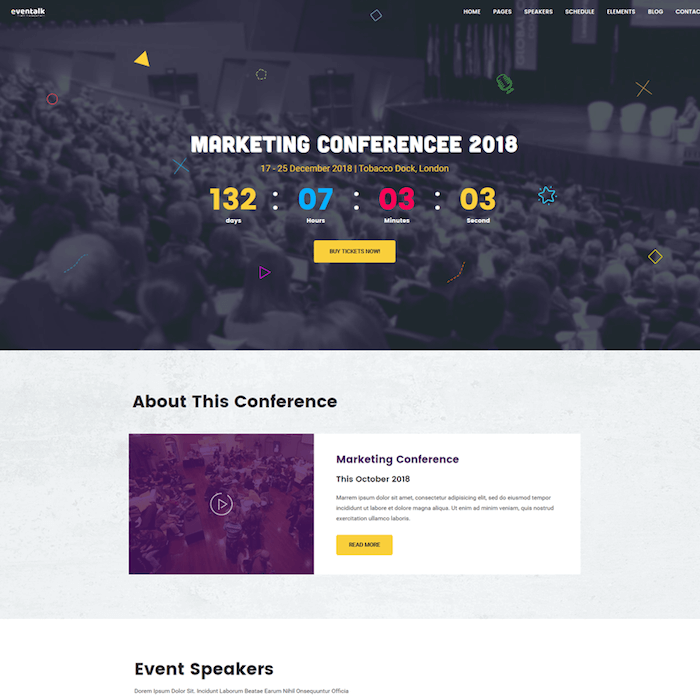 EvenTalk Event WordPress Theme
