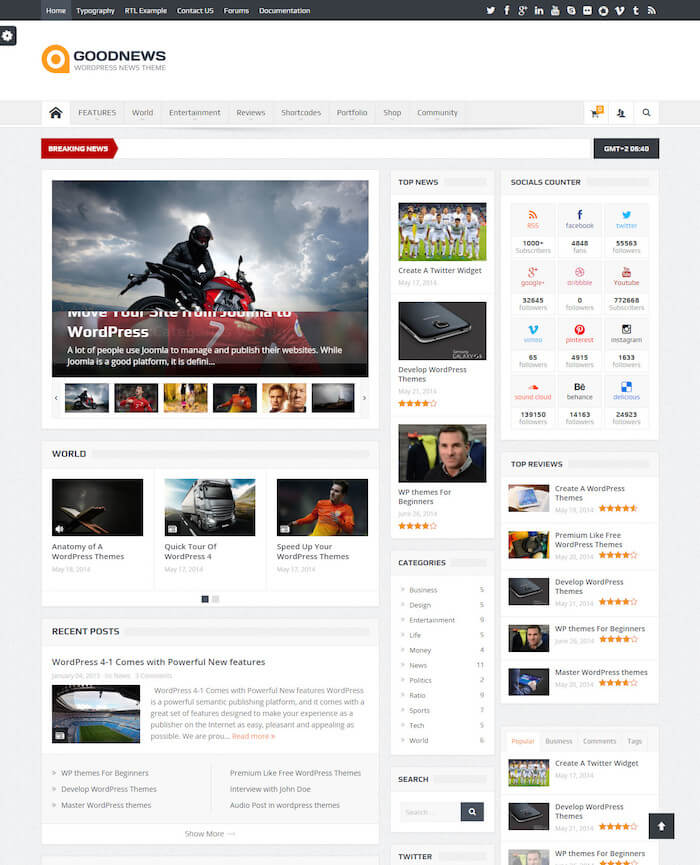 Goodnews Buddypress Theme