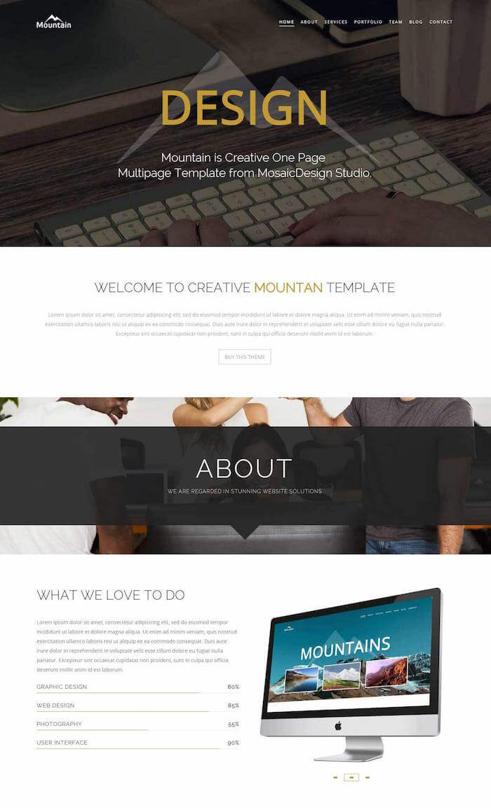 Mountain HTML Template