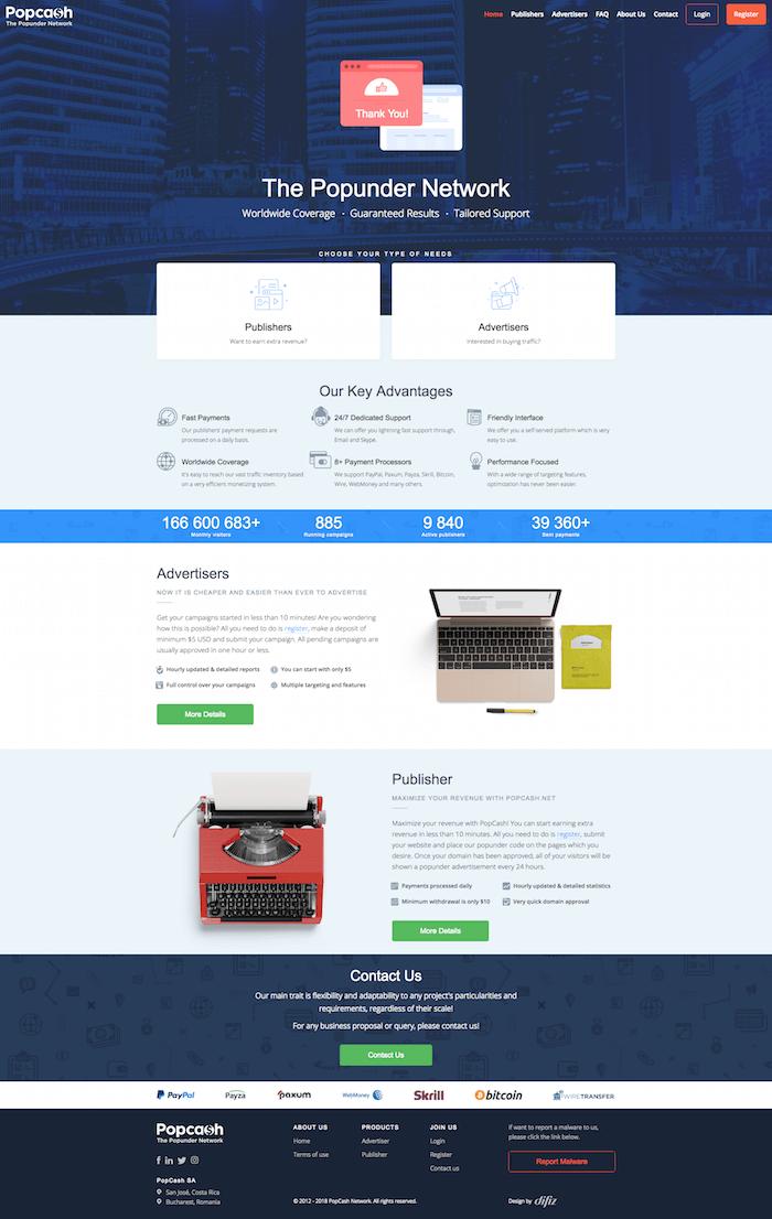 PopCash Platform