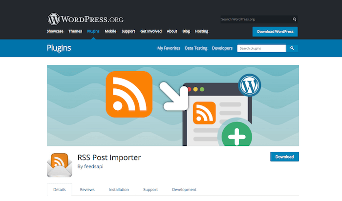 RSS Post Importer