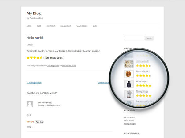 Rating Widget Star Review System