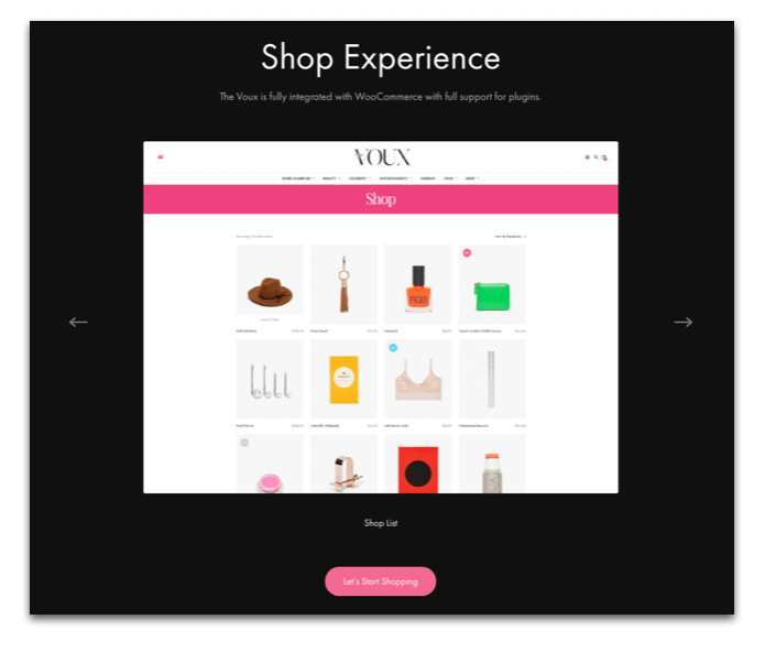 The Voux WooCommerce Store