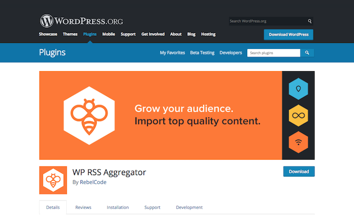 WP RSS Aggregator